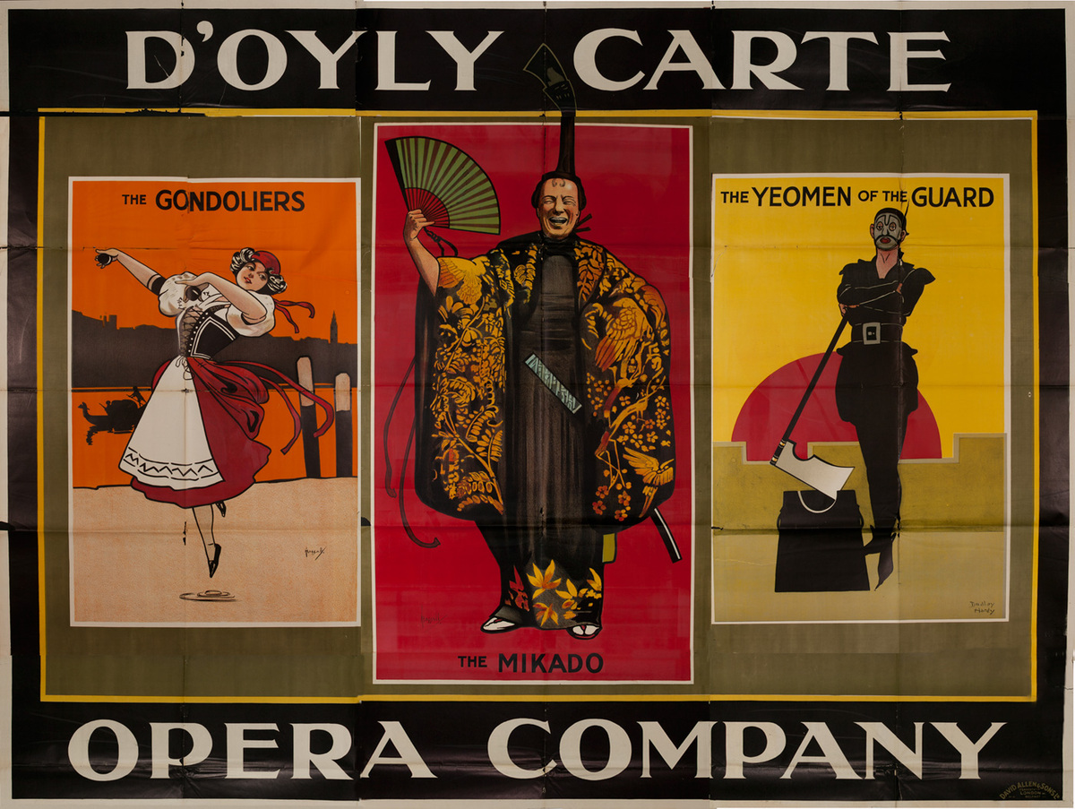 D'Oyly Carte Opera Company Original British Opera Poster,