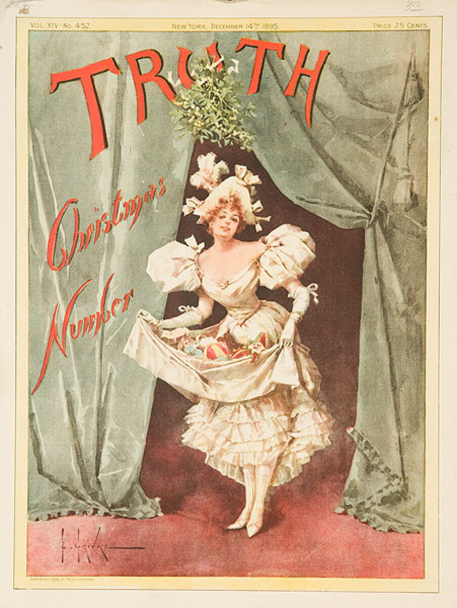 Truth 1895 Christmas Number Original American Literary Poster