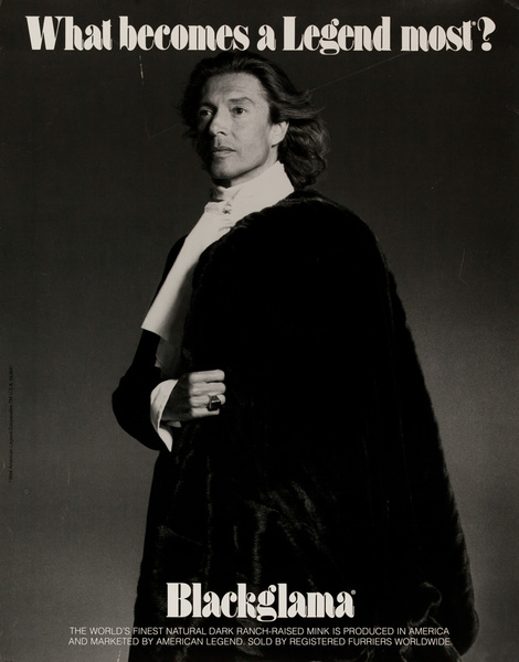 Blackglama Fur, What Becomes a Legend Most? Original Advertising Poster, Tommy Tune 1