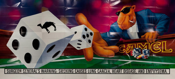 Camel Cigarette Full Sized Billboard Poster, Joe Camel Shooting Dice
