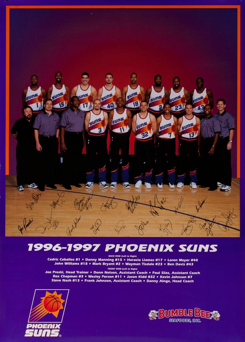 Phoenix Suns 1996-1997 Team Photo Original Poster