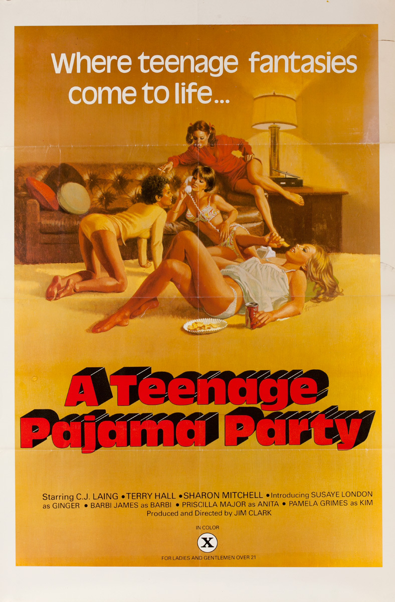 A Teenage Pajama Party Original American X Rated Porno Movie Poster