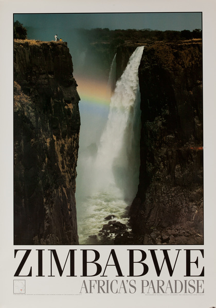 Zimbabwe Africa's Paradise Original African Travel Poster