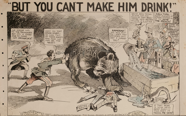 But You Can't make Him Drink, Original American World War One Poster