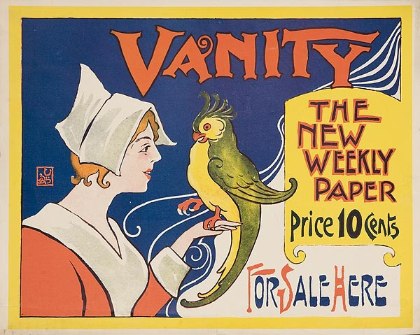 Vanity The New Weekly Paper Original American Literary Poster