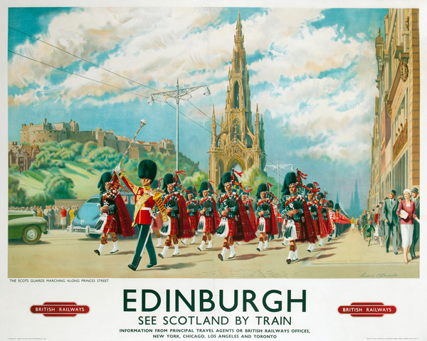 Edinburgh See Scotland By Train Original British Railways Travel Poster