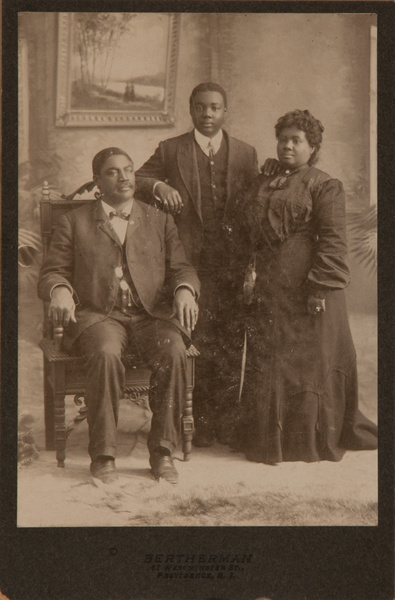 Cabinet Card Arfrican American Family, Bertherman Studio Providence Rhode Island