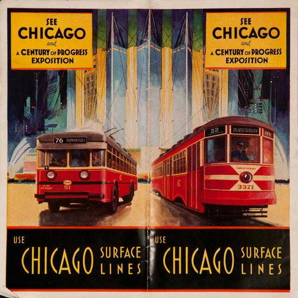 Chicago Century Of Progress, Chicago Surface Lines Brochure