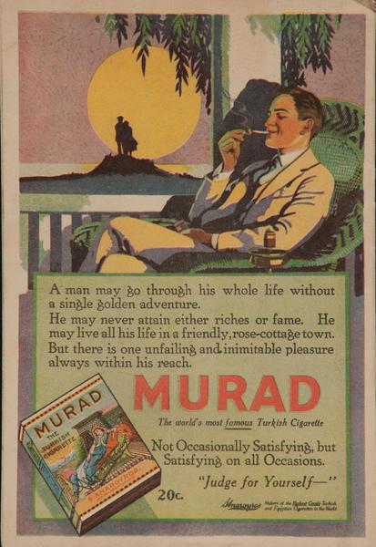 Murad Turkish Cigarette Advertisiment, Moonlit Man