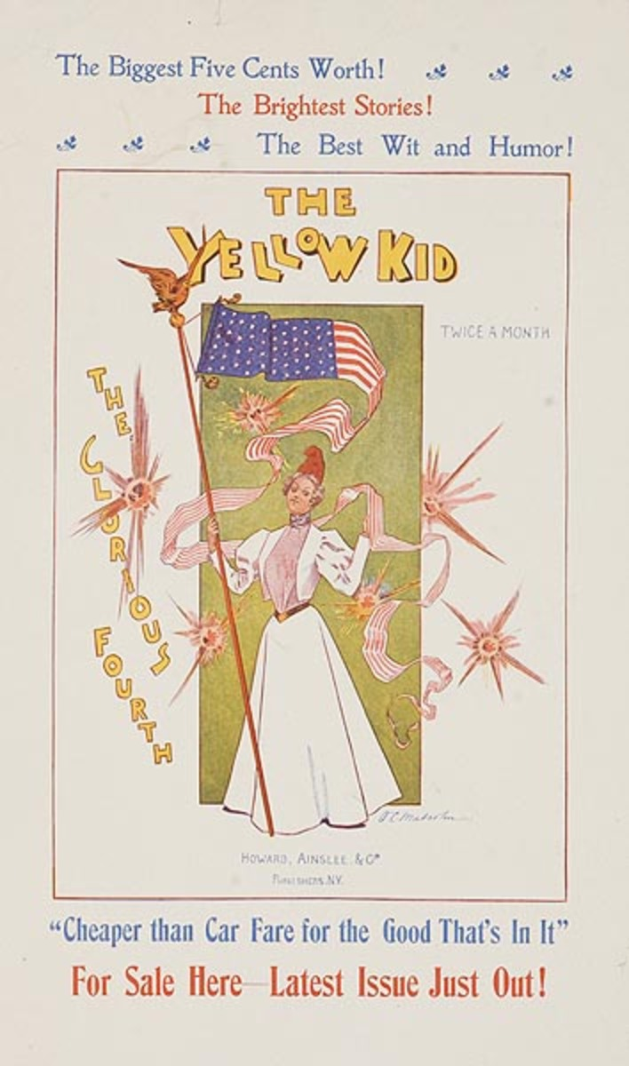 The Yellow Kid, The Fabulous Fourth Original American Literary Poster