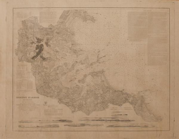 Original 1867 Boston Harbor Map