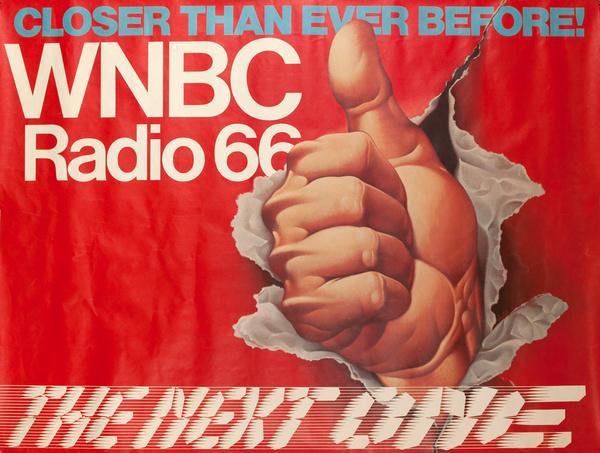 WNBC Radio 66 Original American Radio Advertising Poster