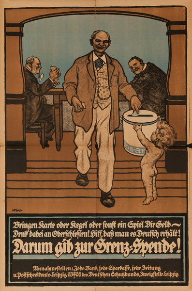 Original Post-WWI German Relief Fund Poster, Donate!