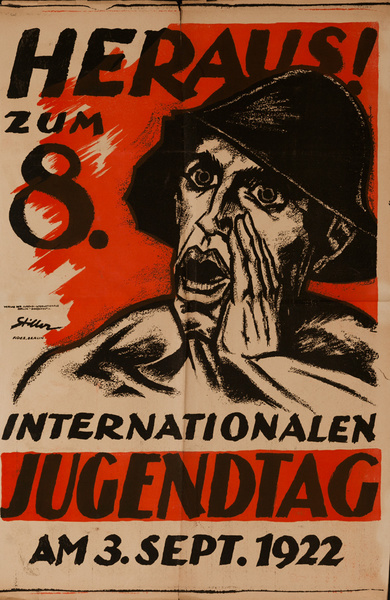 Original Post-WWI German Poster, International Youth Day,