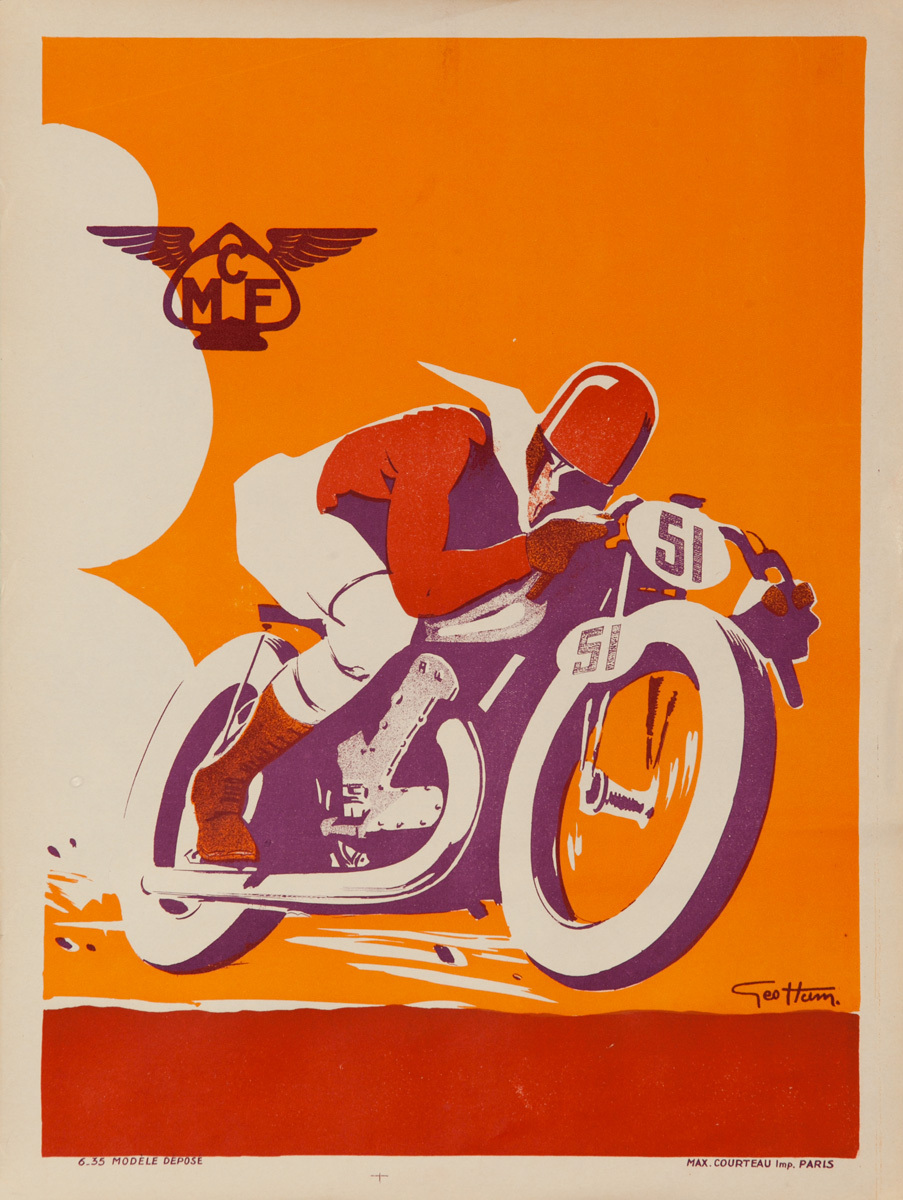CFM, French Motorcyle Club Original Sports Poster Print
