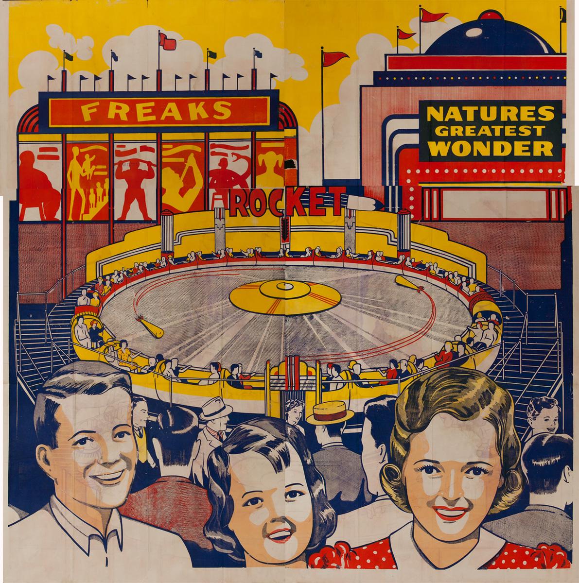 Original 6 Sheet Carnival Poster Freaks and Natures Greatest Wonders