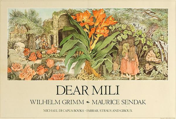 Dear Mili Original Children's Book Advertising Poster