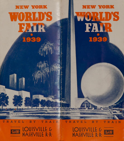 1939 New York World's Fair Original Louisville & Nashville Railroad Travel Brochure