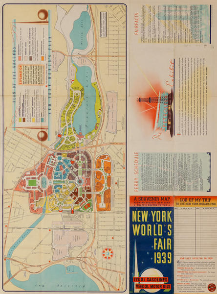 1939 New York World's Fair Souvenir Map Brochure