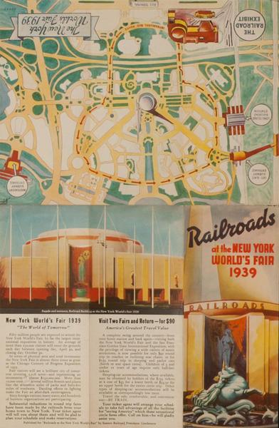 Railroads of the New York World's Fair 1939 Original Travel Brochure