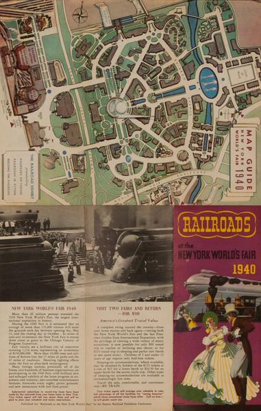 Railroads of the New York World's Fair 1940 Original Travel Brochure