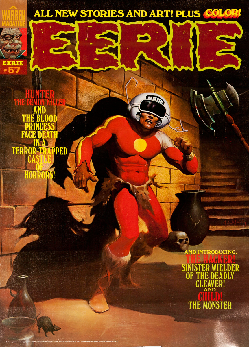 Eerie Comics Original Advertising Poster, Hunter The Demon Killer
