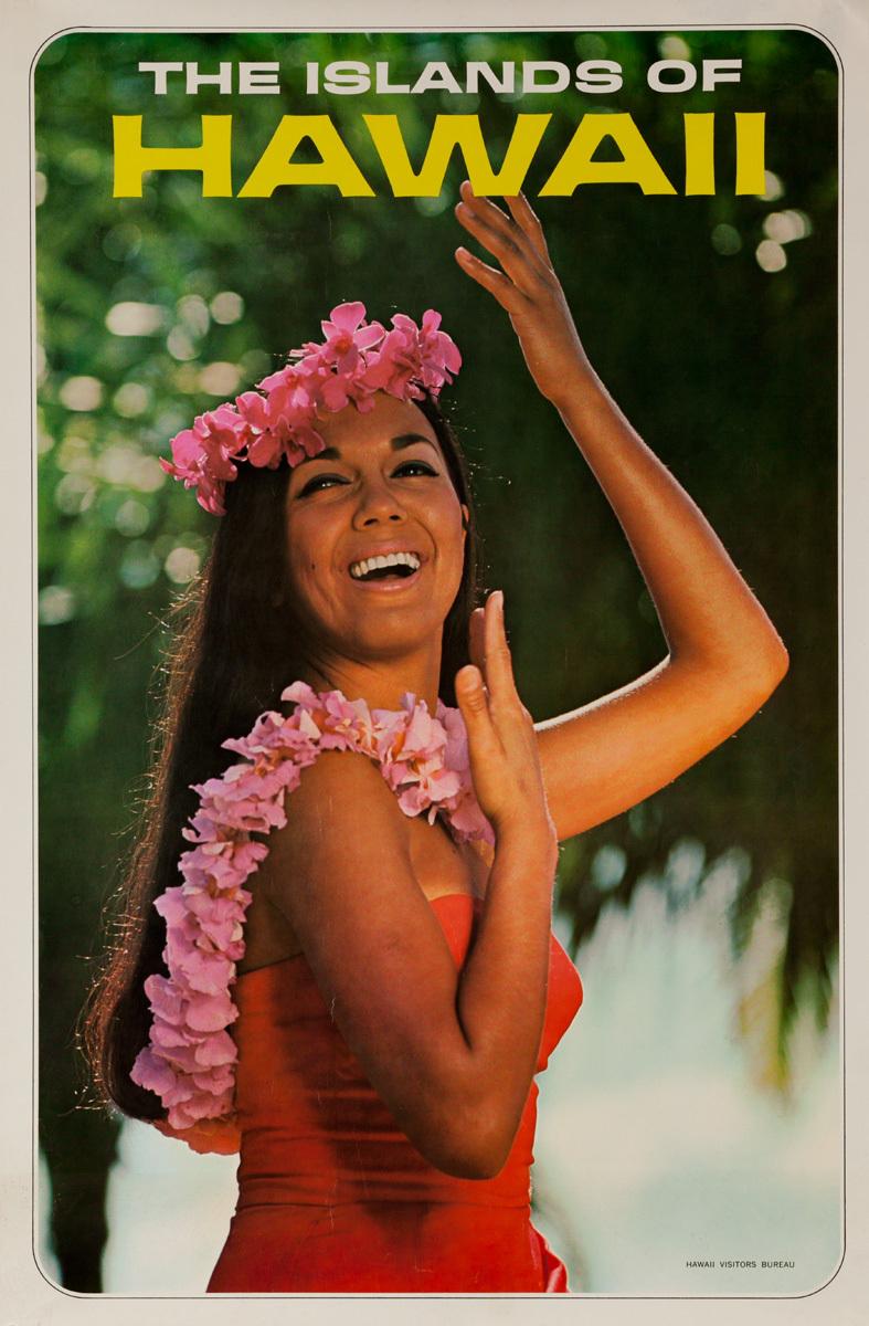 The Islands of Hawaii, Original Hawaii Visitors Bureau Travel Poster