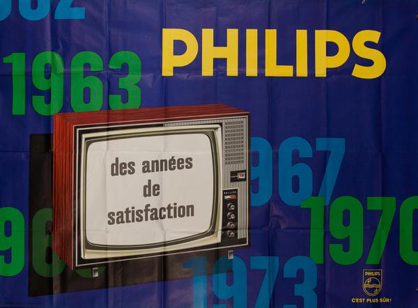 Philips TV Des Années De Satisfaction, Original French Advertising Poster
