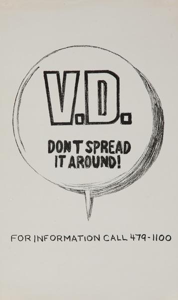 VD Don't Spread it Around, Original American Venereal Disease Public Health Poster