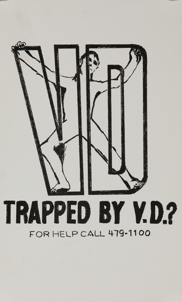 Trapped by VD, Original American Venereal Disease Public Health Poster