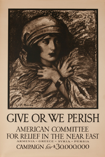 Give or We Perish, Original WWI Near East Relief Poster