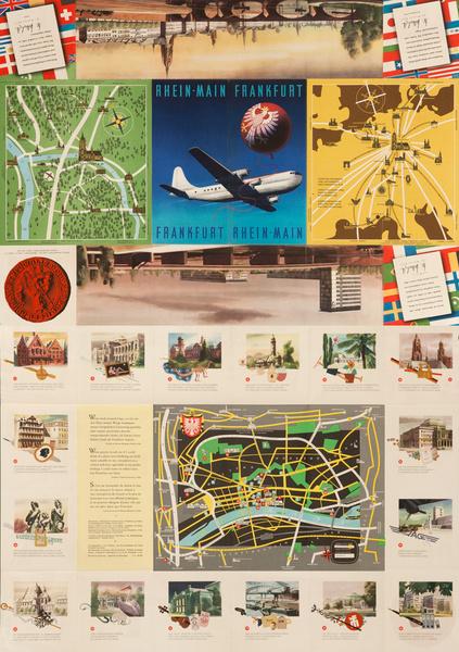 Frankfurt Rhein Main, Original German Airport Travel Brochure