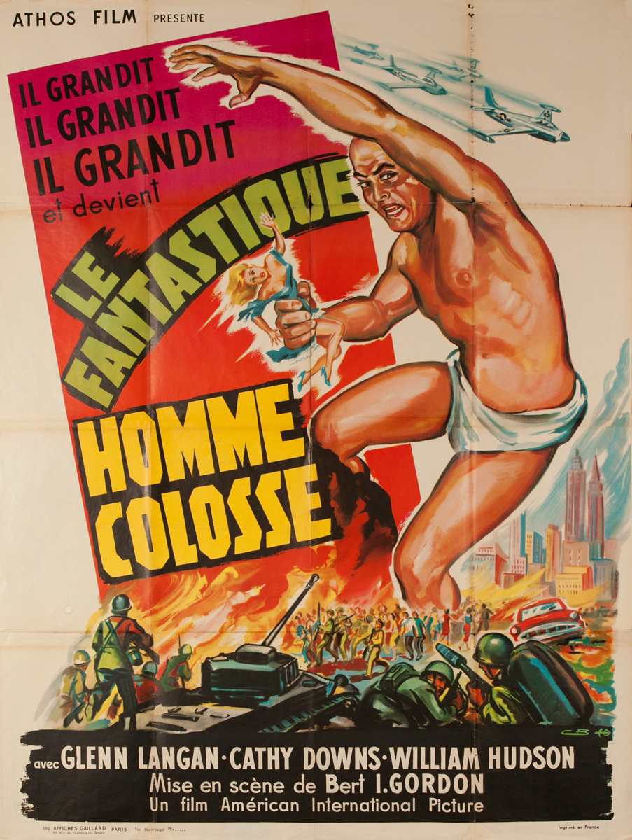 Le Fantastique Homme Colosse, The Amazing Colossal Man, Original Movie Poster
