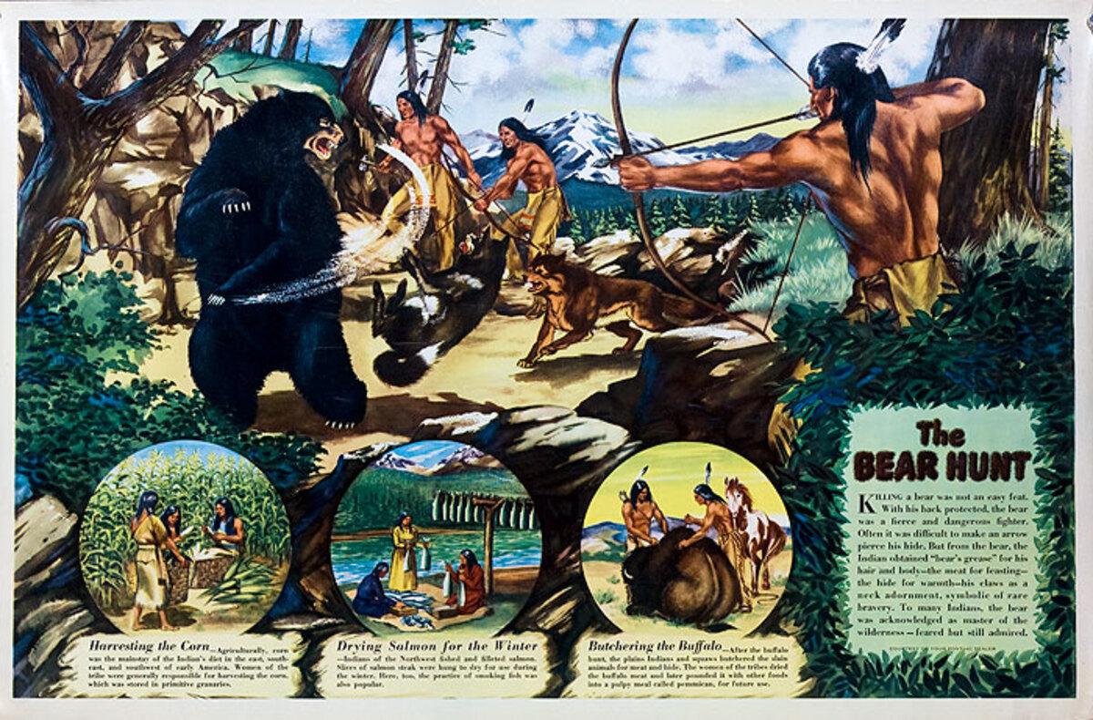 The Bear Hunt Original Pontiac Dealer Poster