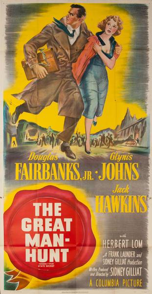 The Great Man-hunt Original 3 Sheet Movie Poster
