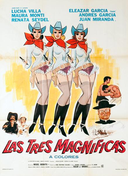 Las Tres Magnificas, Original Mexican Movie Poster