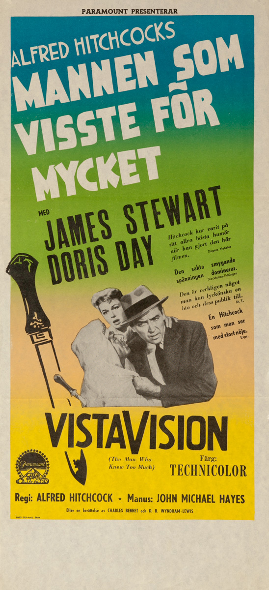 The Man Who Knew Too Much Original Norwegian Movie Poster