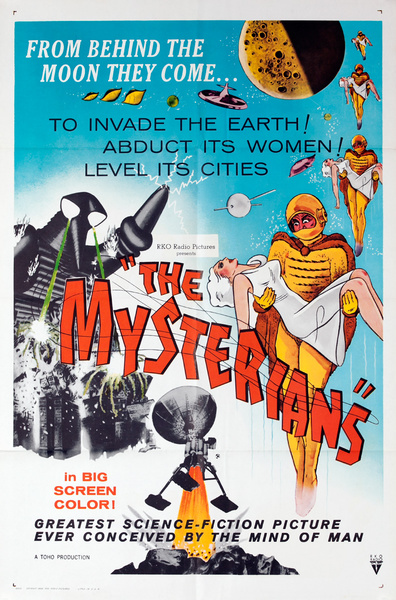 The Mysterians, Original Sci Fi Movie Poster