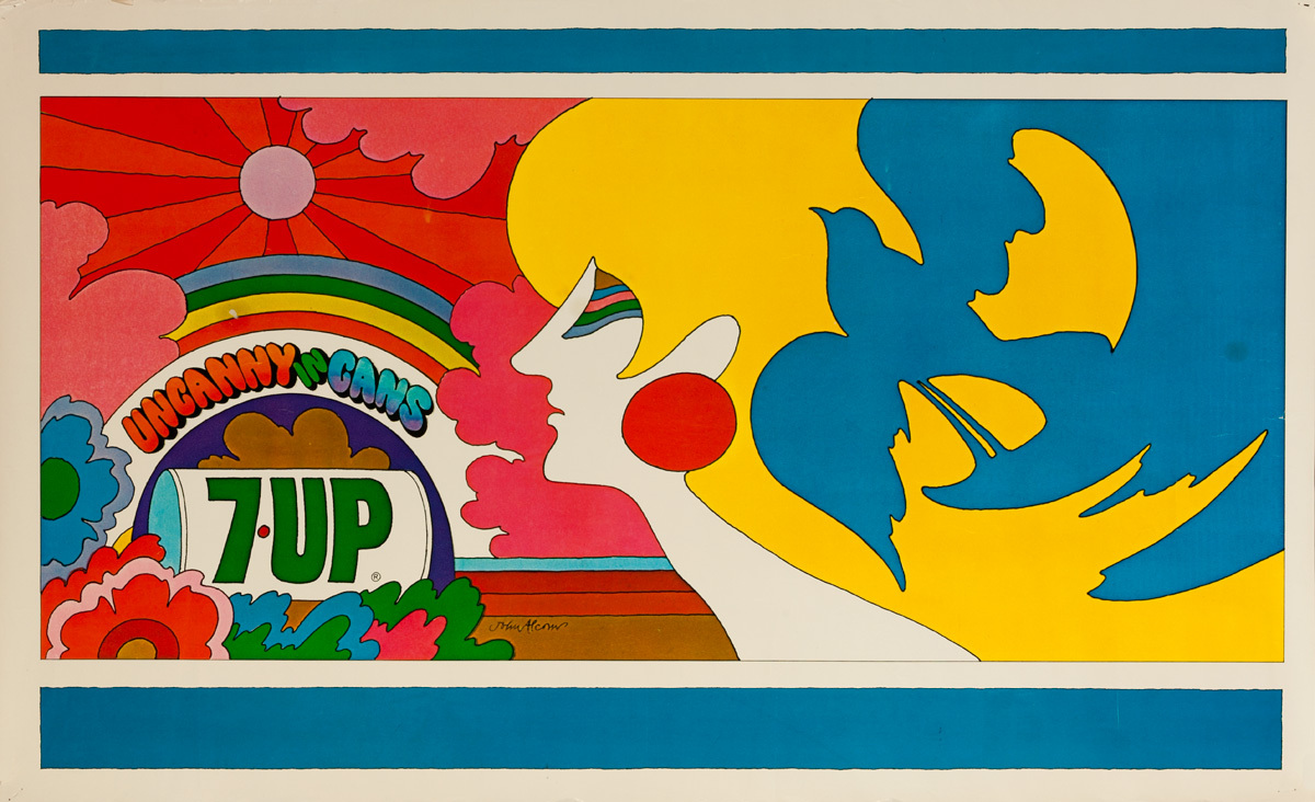 Uncanny in Cans Original 7 Up Advertising Poster, small size