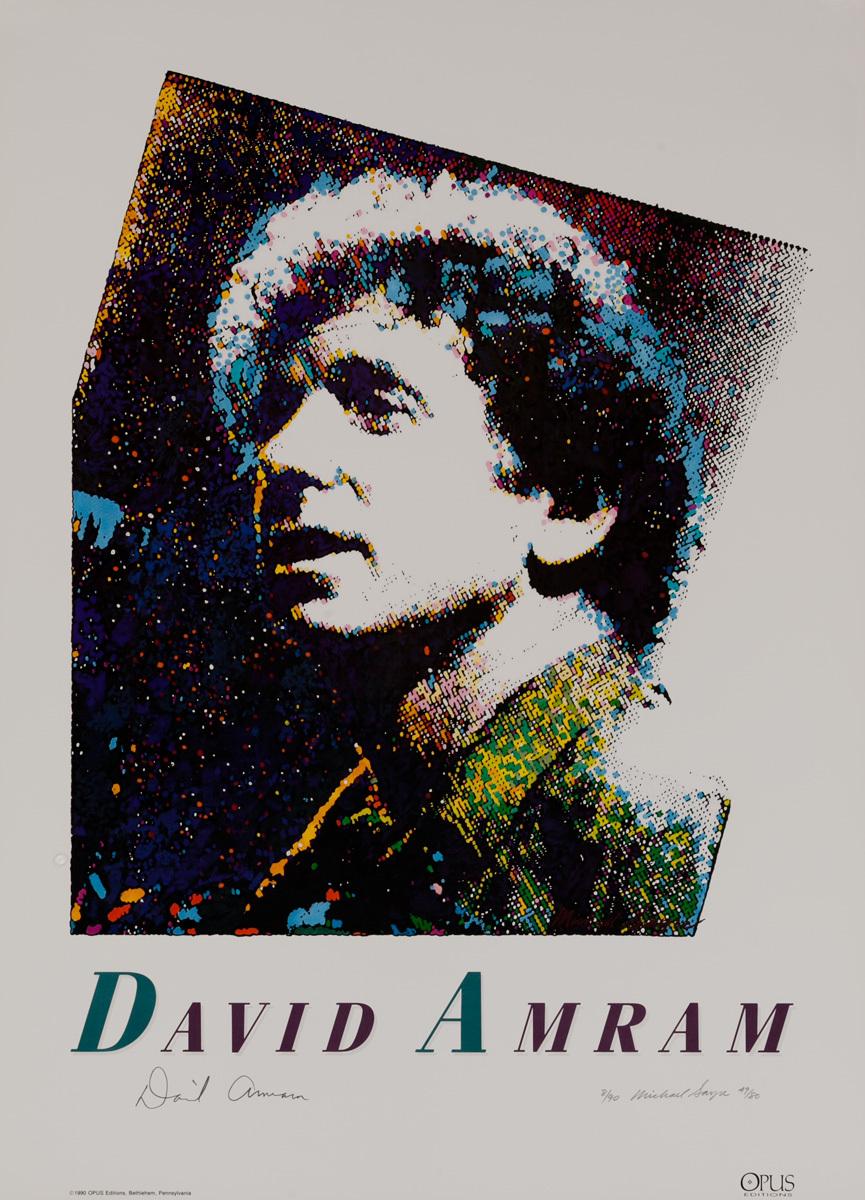 Jazz Performer David Amram Original Art Poster