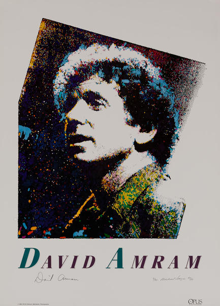 Jazz Performer David Amram Original Art Poster