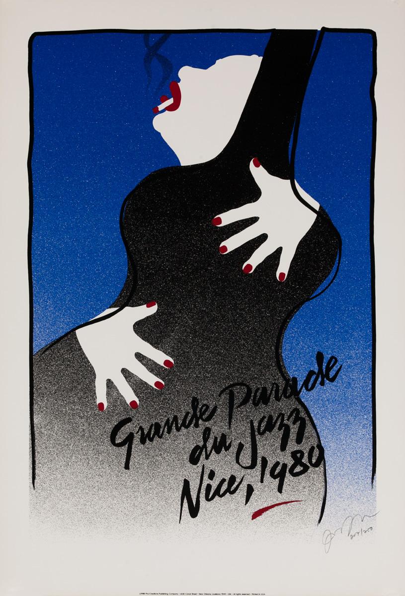 Grande Parade du Jazz Nice, 1980 Original Music Poster