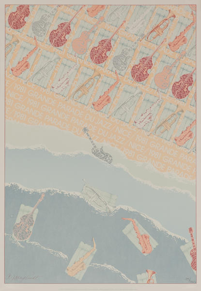Grande Parade du Jazz Nice, 1981 Original Music Poster