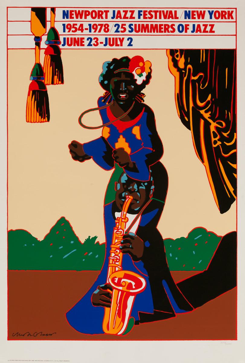 Newport Jazz Festival Original Concert Poster, 1978, 25 Summers of Jazz