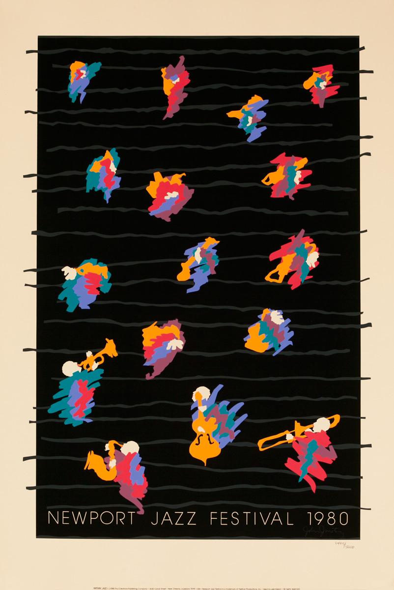 Newport Jazz Festival Original Concert Poster,1980