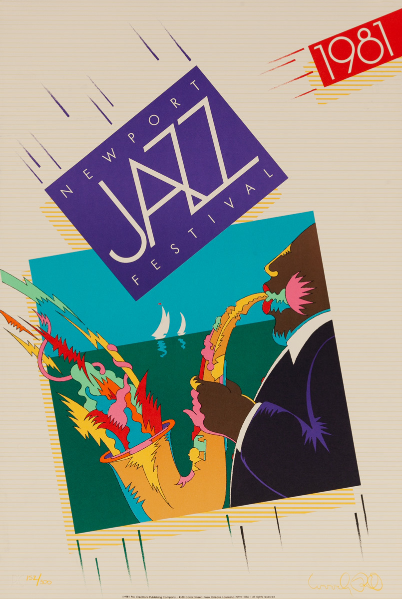 Newport Jazz Festival Original Concert Poster, 1981