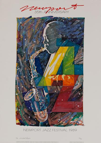 Newport Jazz Festival Original Concert Poster, 1989
