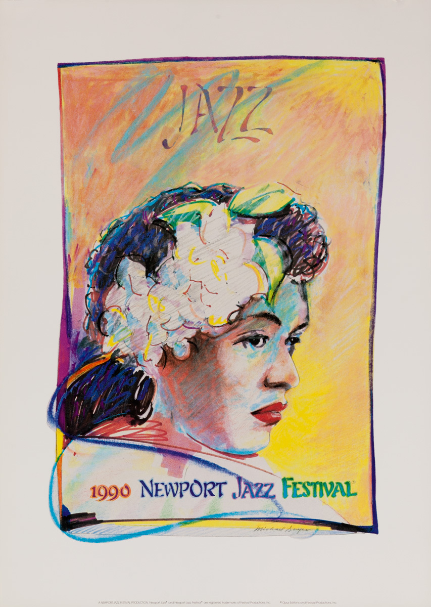 Newport Jazz Festival Original Concert Poster, 1990