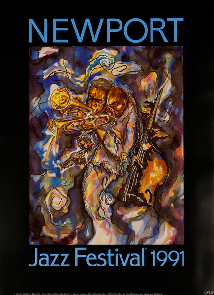 Newport Jazz Festival Original Concert Poster, 1991