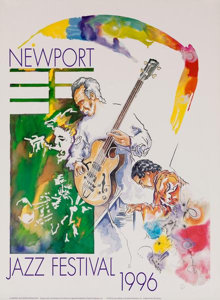 Newport Jazz Festival Original Concert Poster, 1996